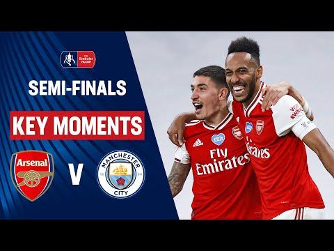 Arsenal vs Manchester City   Key Moments   Semi-Finals   Emirates FA Cup 19/20