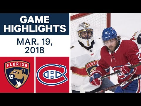 Video: NHL Game Highlights | Panthers vs. Canadiens - Mar. 19, 2018