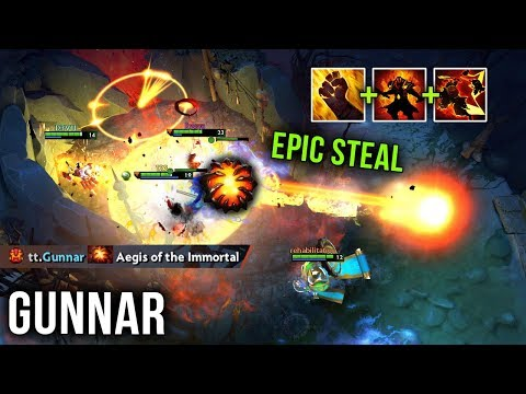 Gunnar Most EPIC Roshan Snatch Ever?! - Insane Ember Spirit Gameplay - 7.22 Patch Dota 2