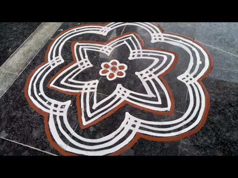 Video 12 | Wet Rice Flour Rangoli | Simple Arisi Maavu Kolam download in MP3, 3GP, MP4, WEBM, AVI, FLV January 2017