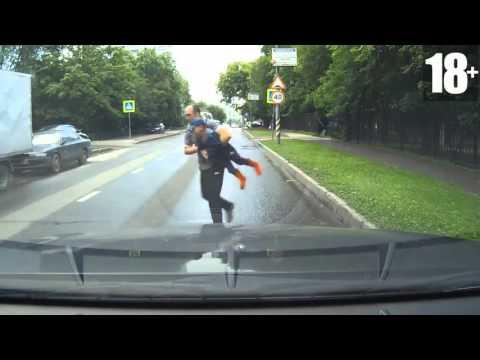 Второй день рождения  Повезло на дороге подборка 2015   Happy birthday on road RUSSIA