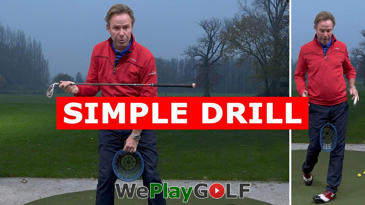 Simple golf drill to improve your golf swing balance