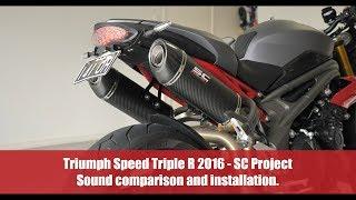 9. Triumph Speed Triple R 2016 - SC Project - Sound Comparison and Installation.