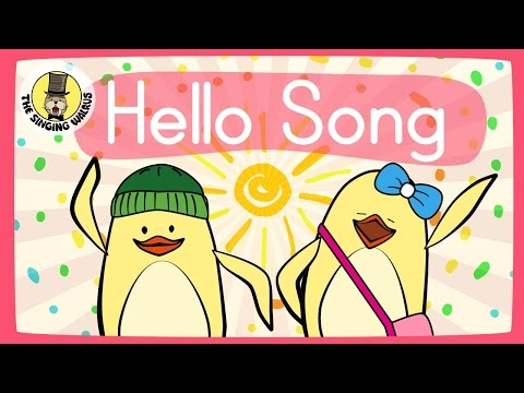 Video Hello Song for Kids | Greeting Song for Kids | The Singing Walrus download in MP3, 3GP, MP4, WEBM, AVI, FLV January 2017