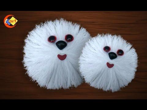 Woolen doll face / hand made