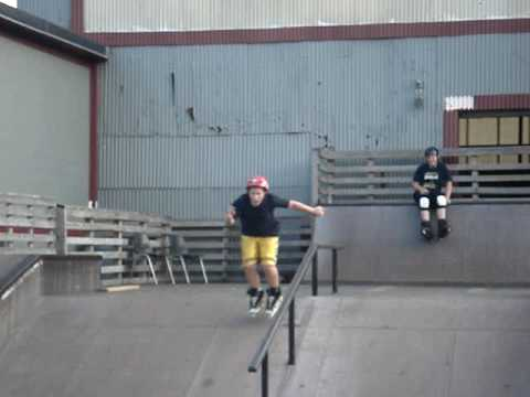 Aggressive skating --sick line from 13 year old at smalls