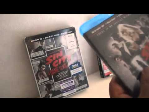 Sin City 2 A Dame To Kill For Bluray 3d Dvd  Best Buy & Target Exclusive Unboxing Unwrapping