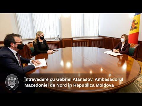 Президент Майя Санду провела встречу с Послом Северной Македонии в Молдове Габриэлем Атанасовым