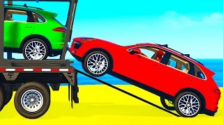 Video COLOR SUV CARS Transportation for Kids in Spiderman Cartoon w Colors for Toddlers Nursery Rhymes MP3, 3GP, MP4, WEBM, AVI, FLV Agustus 2018