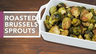 Oven Roasted Brussels Sprouts  | Thanksgiving Dinner 2016 by The Domestic Geek