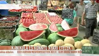 Az egykori bemondónő, Bay Éva és Csehy András riporter az óbudai piacra látogattak el, ahol egy könnyű nyári ebédhez...