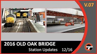 DCC -OO Gauge Layout update -December 2016based around London Acton / Old Oak Common.Video Features -*  Station canopy upgrade.*  Station update.*  Backscene update.*  Fencing and retaining walls. Followed by layout photo shoot.