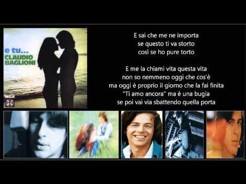 , title : 'CLAUDIO BAGLIONI - E me lo chiami amore'