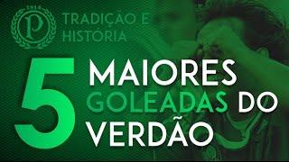 As Maiores Goleadas do Palmeiras contra Adversários Tradicionais  TOP 5 INSCREVA-SE no canal e acompanhe momentos históricos do grande Palestra.