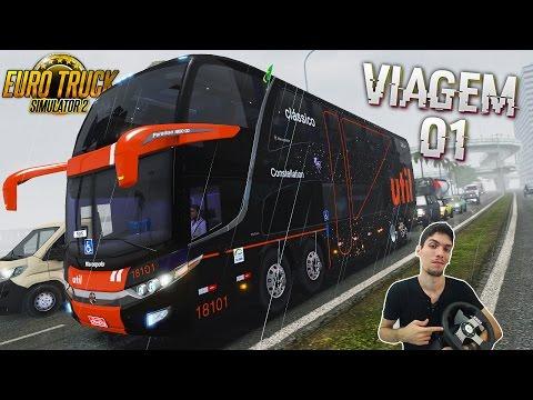 Viajando Pelo Brasil - Belo Horizonte x RJ na chuva Ônibus Viação Util Euro Truck2 com G27! #1