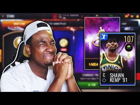 SEARCHING FOR 107 OVR SHAWN KEMP IN NEW HIGH FLYERS PACKS IN NBA LIVE MOBILE 19!!!