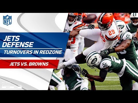 Video: Jets Defense is a Brick Wall in the Red Zone, Forces 2 Turnovers! | Jets vs. Browns | NFL Wk 5