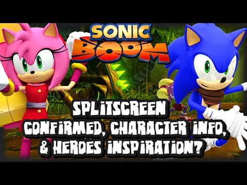 info - It's time for another Sonic Boom News Update! :D In this vid we talk about how Splitscreen Gameplay has finally been confirmed for wii u gamepad and TV, char...