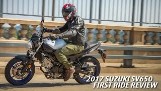 10. 2017 Suzuki SV650A First Ride