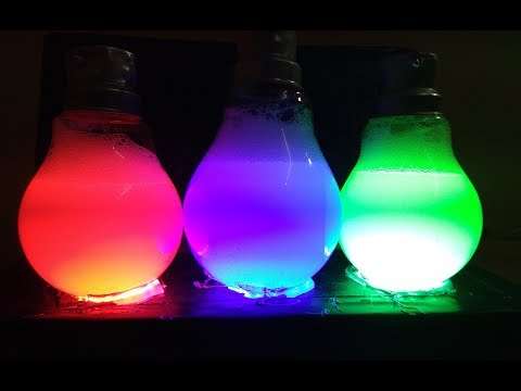 How to make Magic Ice Cubes in Bulb | DIY Light
