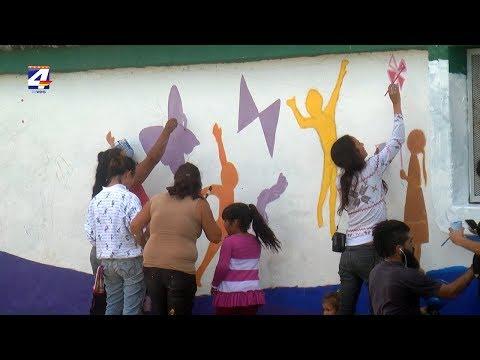 """""""Murales que nos definen"""": Trabajos en los barrios Purificación 3 y Curupí"""
