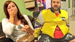 """CRINGIEST FAT MAN IN A LITTLE COAT FAIL EVER! WIFE GETS EMBARRASSING """"PERSONAL"""" ITEM"""
