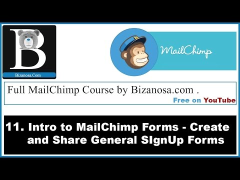 11.Mailchimp Forms - creating newsletter signup forms -Mailchimp course
