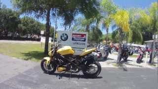 10. 2012 Ducati Streetfighter 848 yellow with Termignoni