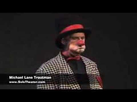 clown - Clown Magician Michael Lane Trautman performs ping-pong comedy magic routine.