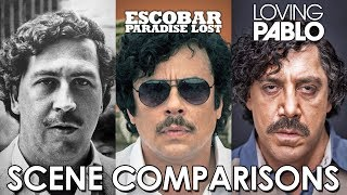 Escobar: Paradise Lost (2014) and Loving Pablo (2017) - scene comparisons