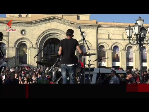 Նիկոլ Փաշինյանի և նրա աջակիցների հանրահավաքը Հանրապետության հրապարակում.ուղիղ միացում - DomaVideo.Ru