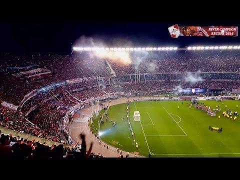 BANDERAS NEGRAS PARLANTES NO HAY + RIVER CAMPEON - River Plate vs Ind. Santa Fé / Recopa 2016 - Los Borrachos del Tablón - River Plate - Argentina - América del Sur