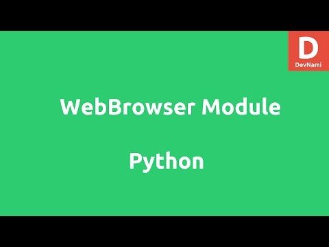 how to make a webbrowser in python