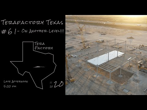 Tesla Terafactory Texas Update #61 in 4K: On Another Level - 11/20/20 (5:00pm)