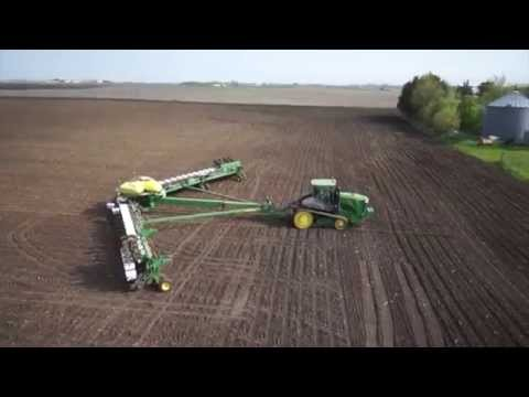 planting - Corn planting in Central Iowa. DB120 48 row planter. John Deere 9560RT. Thanks to Ryan and Duane with V2AIR for aerial video http://www.facebook.com/MidwestM...