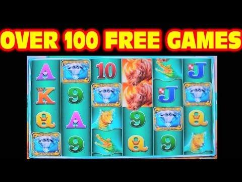 Raging Rhino OVER 100 FREE GAMES Las Vegas Slot Machine Big Win
