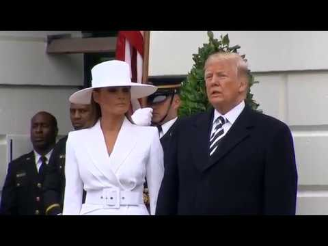 FULL ARRIVAL CEREMONY: Trump Welcomes French President Macron To The White House
