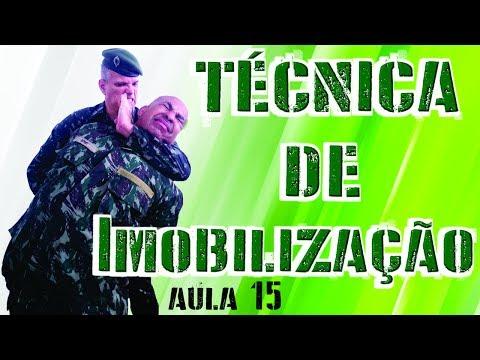 TÉCNICAS DE IMOBILIZAÇÃO Luta Militar Defesa Pessoal Exército Brasileiro Combate