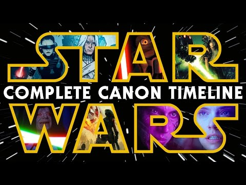 Star Wars The Complete Canon Timeline