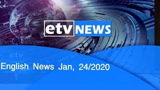 English News Jan, 24/2020 |etv