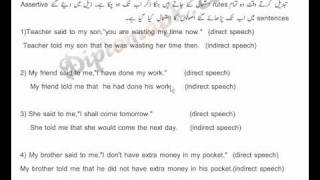 Direct&Indirect Speech Lesson No 5