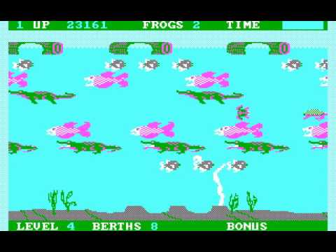 PC Booter Game: Frogger II: ThreeeDeep! (1984 Sega Enterprises, Inc.)