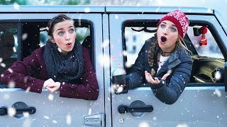How Will STRANGERS REACT to Our Singing? | 12 Days of Vlogmas Day #2 by Brooklyn and Bailey