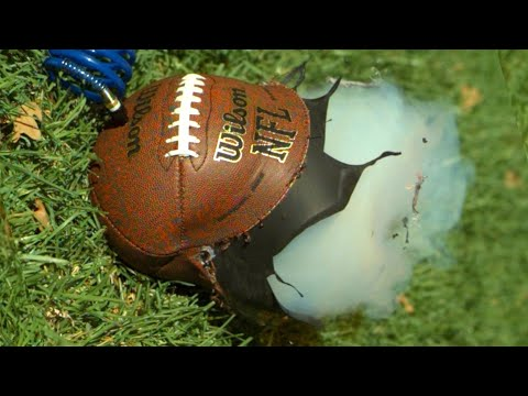 The Slow Mo Guys OverInflating Footballs