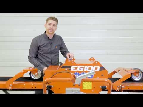 Walkthrough of the EG100 Twin Blade Edger: Wood-Mizer (видео)