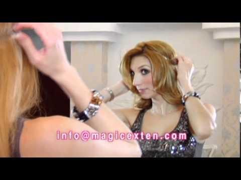 Como aplicar las mejores y mas facil extensiones de cabello Magic Exten