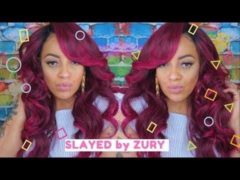 ZURY MADE ME DO IT | Glam Collection Pre-Tweezed Wig DELUX | Synthetic SLAY series #5