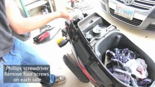 5. Yamaha Zuma 50cc - Back End Removal