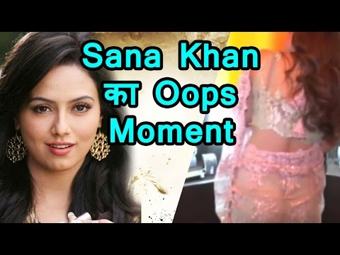 Video Sana Khan Oops Moment in Transparent Saree download in MP3, 3GP, MP4, WEBM, AVI, FLV January 2017