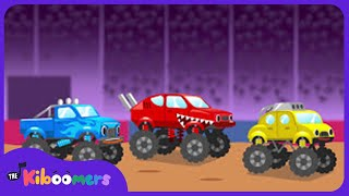 Download Lagu Learn Colors with Monster Trucks | Monster Truck Colors Song for Kids | The Kiboomers Mp3
